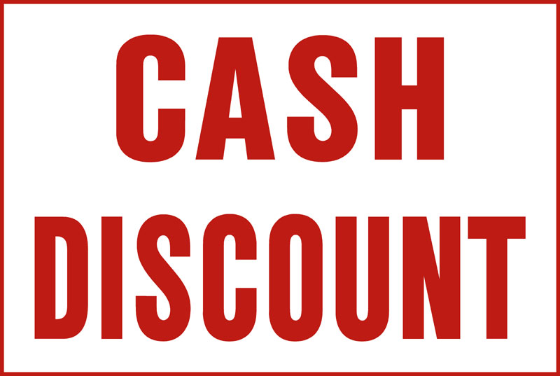 cash discount A cash discount program is a way for merchants to pass the cost of card  acceptance along to cardholders by offering a discount for paying with cash  q:  how does cash discounting work a: this program is a way for.